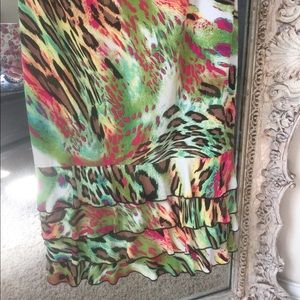 Frank Lyman animal print stretch dress
